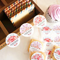 180pcs/lot new product 3 styles Round hand made seal sticker baking products sealing sticker lable packaging sticker