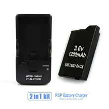 2 в 1 Комплект для PSP Аккумулятор + Один Батареи PSP Зарядное Устройство Стенд Колыбель Для Всех SONY PSP-2000, 3000
