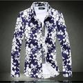 Mens novo Plus Size New Rose flor elegante Camisa 6XL 5XL 4XL tamanho Extra grande Camisa Camisas Masculina