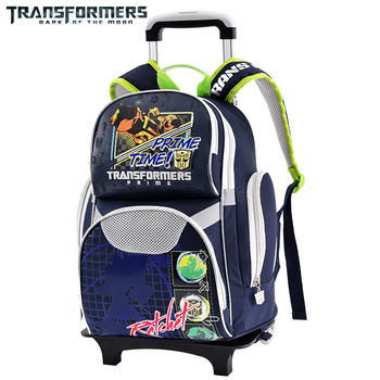 TRANSFORMERS school bags Boys trolley backpack kids wheeled travel bags with rainproof cover It's lighten the load for children