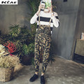 Men's plus size denim overalls Casual Slim Camouflage jeans jumpsuits for man Bib pants denim jeans high quality New 2016