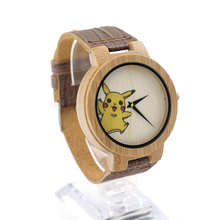 BOBO BIRD Brand Cute Women's Wood Watches Quartz Bamboo Watch Ladies Wristwatches Quartz-Watchn Best Gifts Items E08