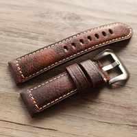 2019 nouveau design rétro cuir bracelets de montre Version classique montre pour hommes bande 20 22 24 26mm pour bracelet Panerai haute qualité bracelet