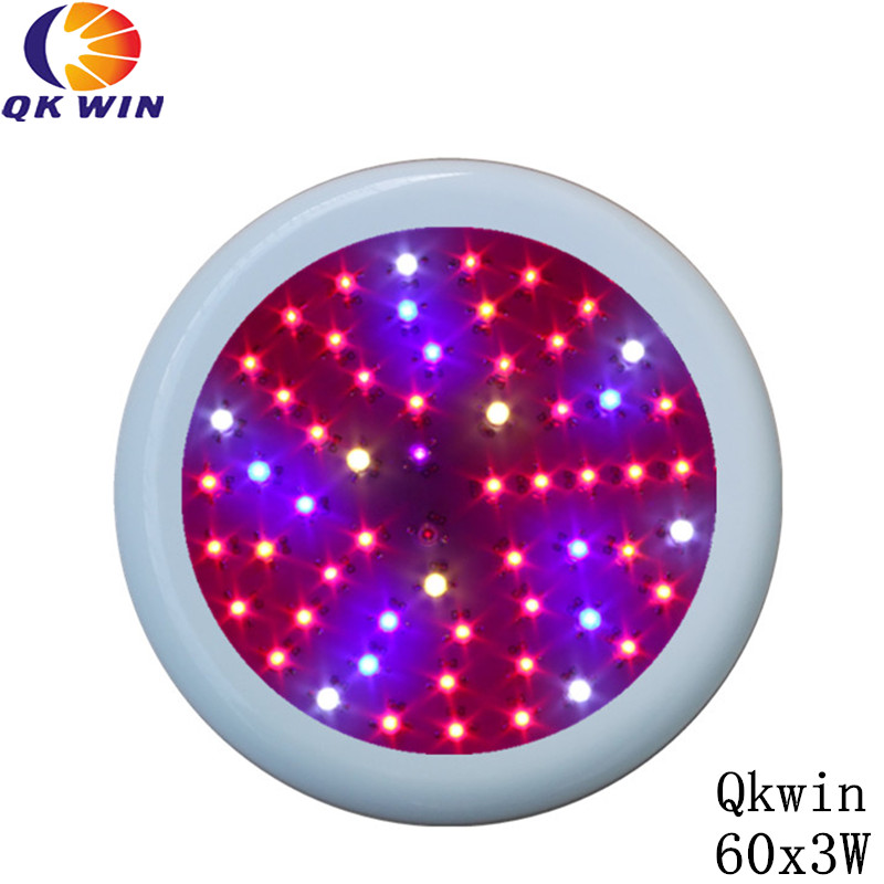 New generation UFO Led grow light 180W built With 60pcs 3W leds for greenhouse lighting dropshipping led grow light 180w 60 3w with all blue 460nm leds and royal blue 450nm for vegetabling lights and lighting
