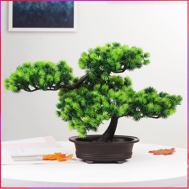 Artificial Decorations Home & Garden Simulation Green Pot Green Plant Decoration Table Top Shape Home Living Room Bonsai Mini Decorations 2019 New