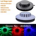 New 8W 48 LED 90-240V Auto & Voice-activated LED mini RGB Stage Light Bar Party Disco DJ Stage Lighting light d33