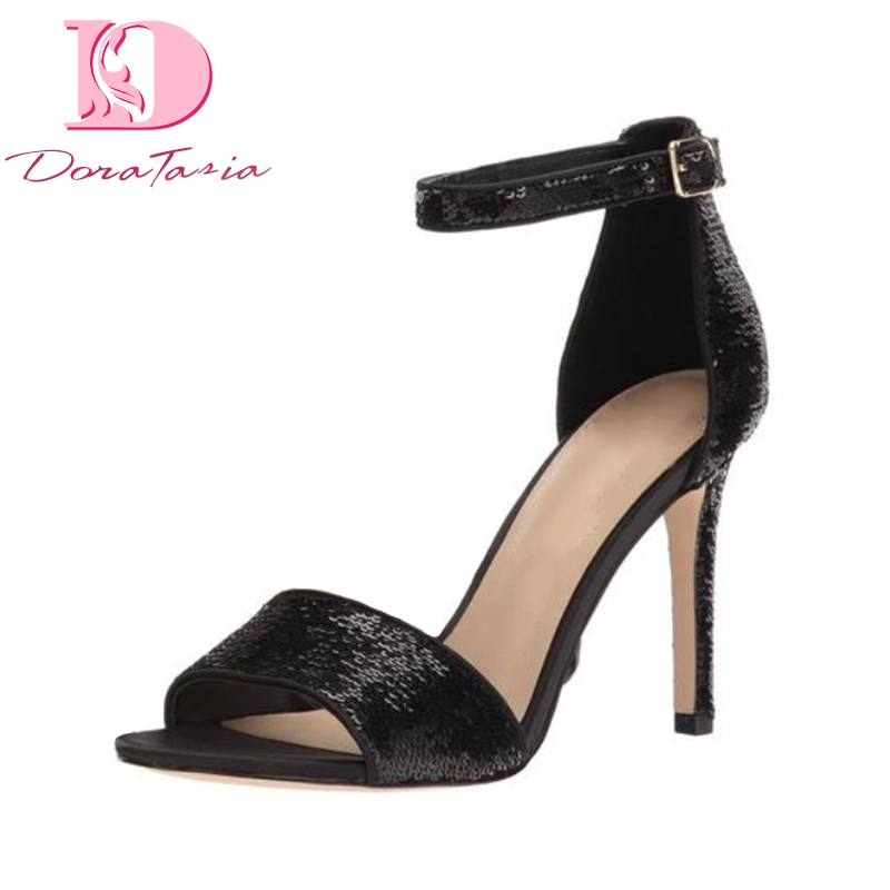 DoraTasia 2018 Hot Sale Dropship Thin High Heels Sexy Summer Shoes Woman Fashion Ankle Strao Brand