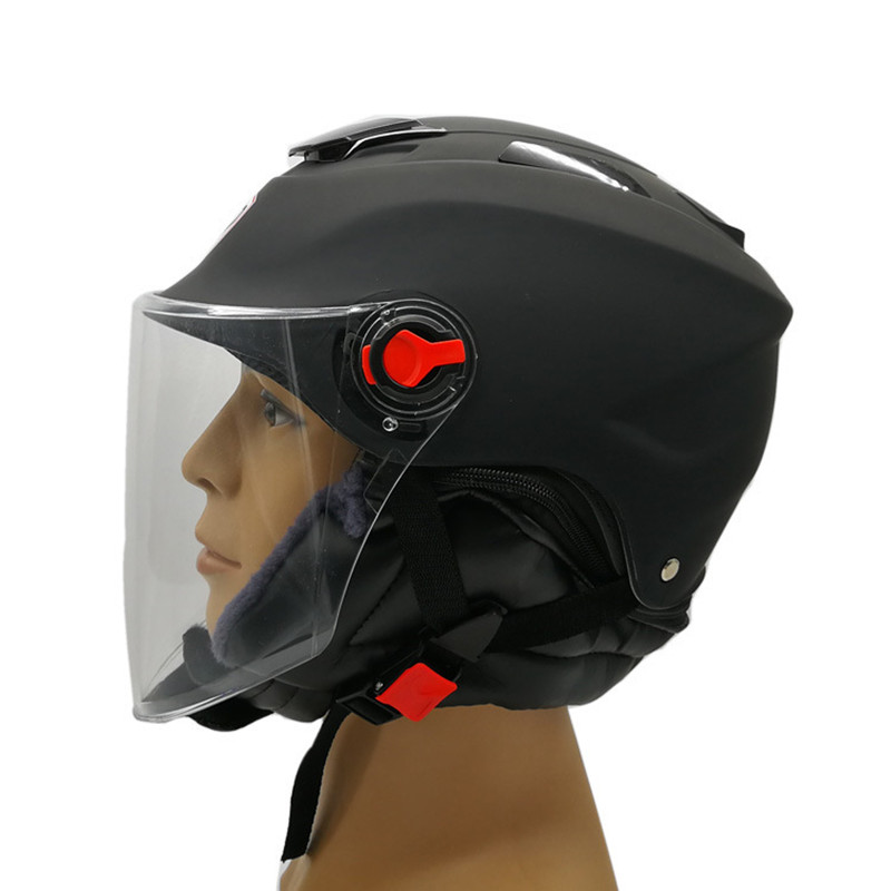 Manufacturers Wholesale Electric Motorcycle Helmet Storage Battery Collar Half-face Helmets Winter Customizable SD220