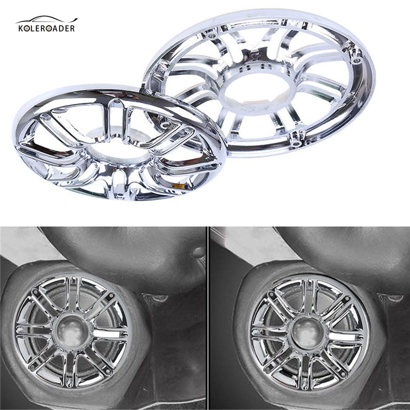 KOLEROADER Front Audio Speaker Trim Grill Cover For Harley Davidson Touring Trike Electra Street Glide FLHT FLHX Motorbike Part high quality abs chrome 2pcs up grill trim lower grill trim grill decoration trim grill streamer for honda city 2015 216