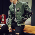2016 High fashion Men's motorcycle Flight Jacket Pilot Air Force Army Green/Black Bomber Jackets coats High Quality plus size
