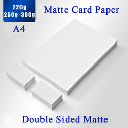 Papel fotográfico mate de doble cara de 220g 250g para tarjeta de visita/tarjeta de nombre/postal