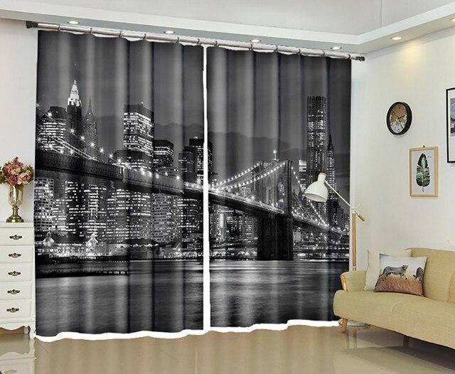 London bridge fenêtre 3d rideaux rideaux pour chambre salon bureau