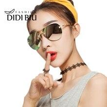 DIDI 2017 Polarized Aviator Flower Sunglasses Women Men Cutted Edge Sun Glasses Rimless Gold Glasses Oversized Cutting Lens U621