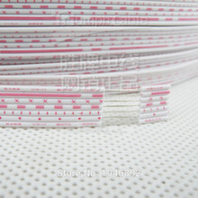цены Flexible Stranded of 26 AWG UL 2468PVC 7/0.16TS Flat Ribbon Wire With Red-White Color Diameter 1.3mm Electronic Wire Conductor