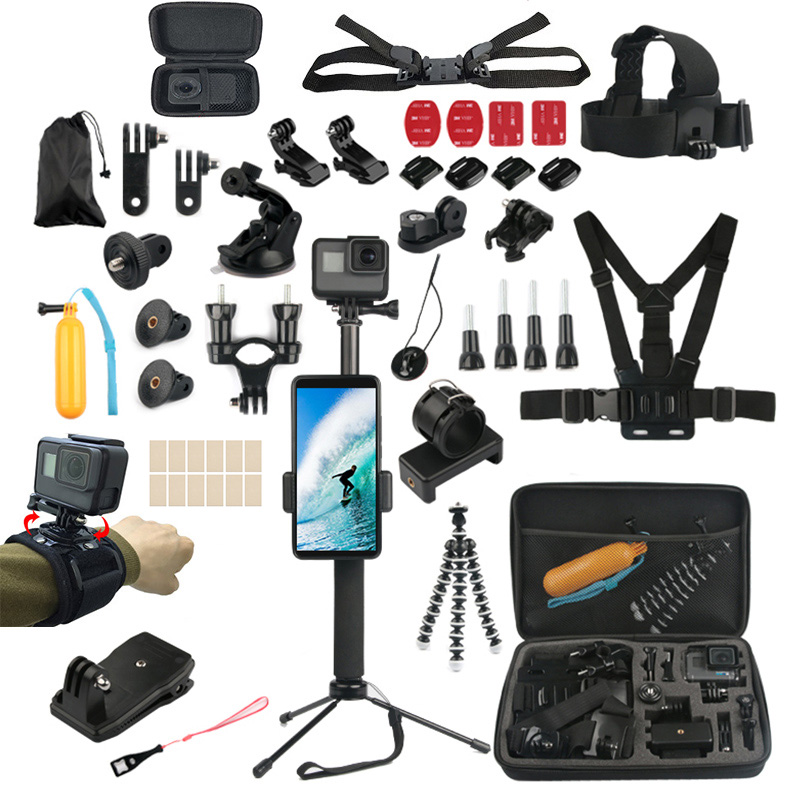 Waterproof Carrying and Travel Case for DJI New Action Large Size: 32cm x 22cm x 7cm Dur Xiaoyi and Other Action Cameras Accessories GoPro NEW HERO //HERO7 //6 //5 //5 Session //4 Session //4 //3+//3 //2 //1