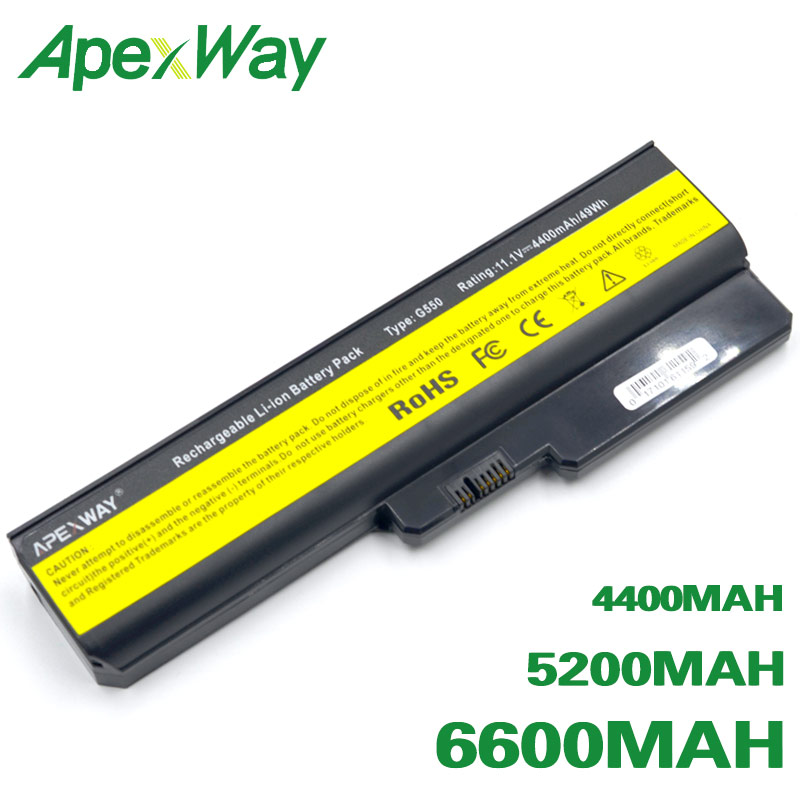 ApexWay Battery For Lenovo 3000 B460 B550 G430 G430A G430L G430M G450 G450 G450A G450M G455 G530 G530A G530M G550 G555 N500