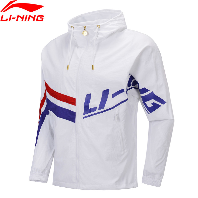 Li-Ning Men The Trend Loose Fit Windbreaker AT PROOF SMART LiNing Li Ning Sports Coat Retro Windproof Jackets AFDP249 MWF401