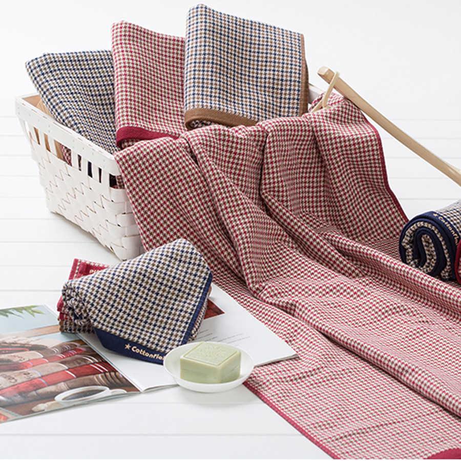 Doux hommes coton rayé serviette de bain ensembles Jacquard grand Couple rouge serviettes de bain Paksu hôtel serviettes décoration outils 40C6077