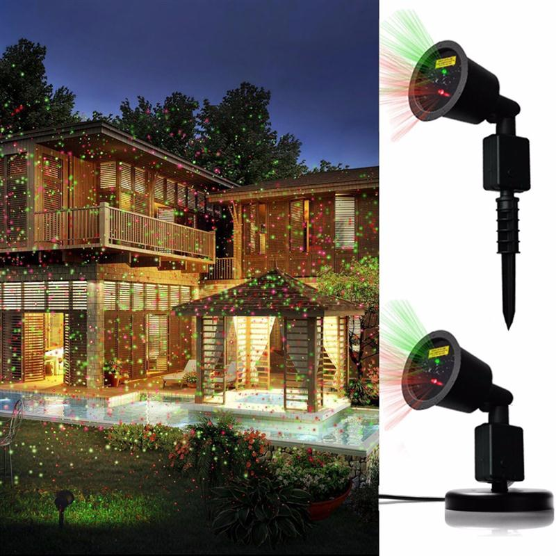 Waterproof Laser Projector Red Green Laser Landscape Lights Spotlight With Remote Control For Outdoor Party Decorations цена и фото