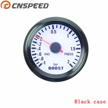 Free shipping CNSPEED 2 inch 52mm Turbo Boost Gauge -1~2 Bar turbo Boost meter with Boost Sensor Car meter YC100011(China)