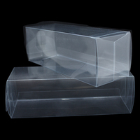 DHL Transparent Christmas PVC Package Box Plastic Container Event Party Favors Square Storage Boxes For Candy