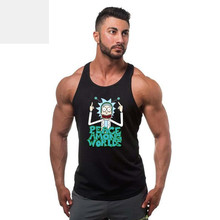 Rick and Morty Anime Tank Top 3D Print Summer Casual Sleeveless Shirts Mens Jersery Street Workout Mens Tank Tops Hip Hop Brand