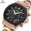 2016 New Arrival MEGIR Brand Stainless Steel Business Man's Watch Chronograph Men Analog 24 Hour 6 Hand Clock Army Sport Watches