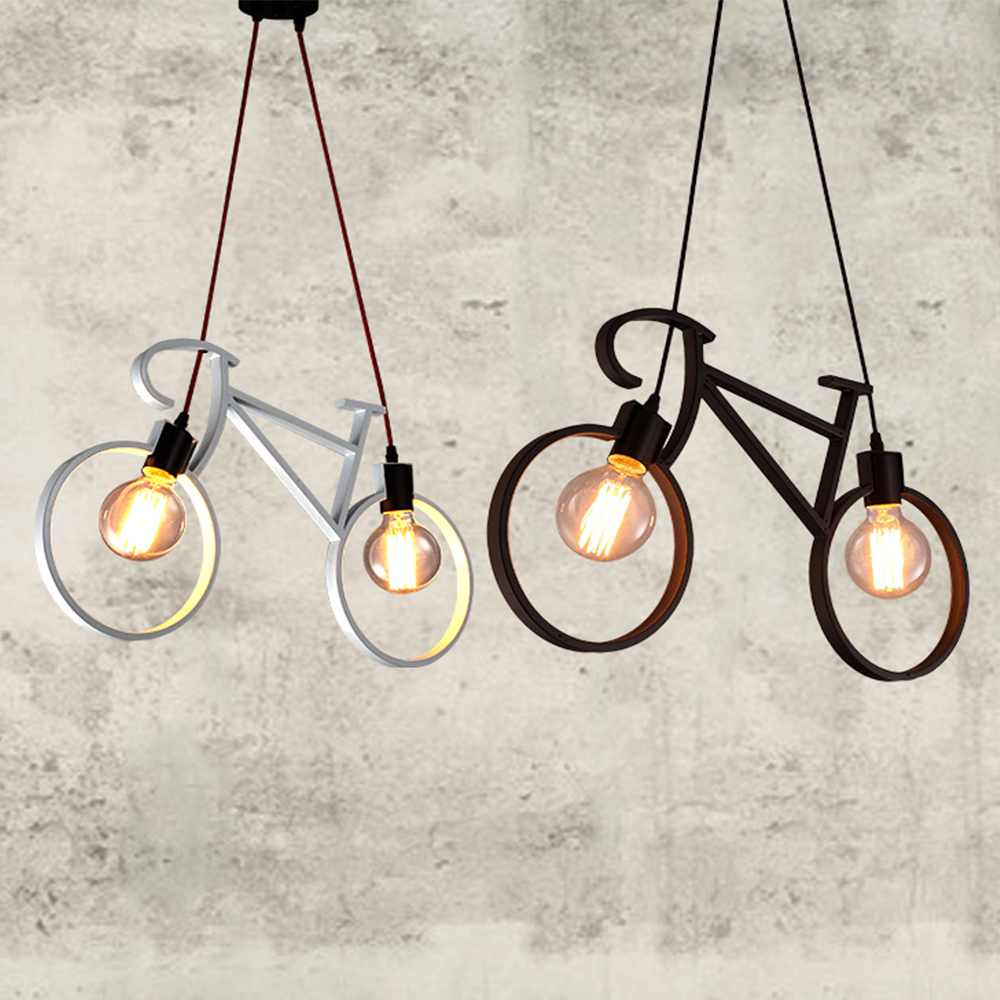 Nordic Modern Bicycle Iron Cafe Loft Gang Bar Store Tak Lampe - Ferie belysning - Bilde 2