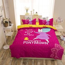 2016 fashion pony children bedding set queen full twin size duvet cover bed sheet pillow cases 3/4pcs bedclothes