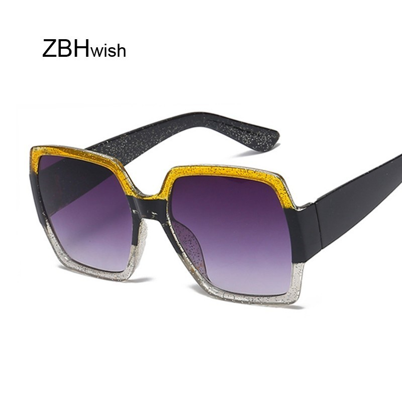 2020 Oversized Sunglasses Women Square Ladies Luxury Brand Vintage Big Frame Sun Glasses Female Trend Eyewear