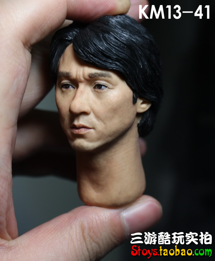 1/6 scale doll Accessory HK Jackie Chan headsculpt male head shape for 12 Action figure doll ,Not included body and clothes