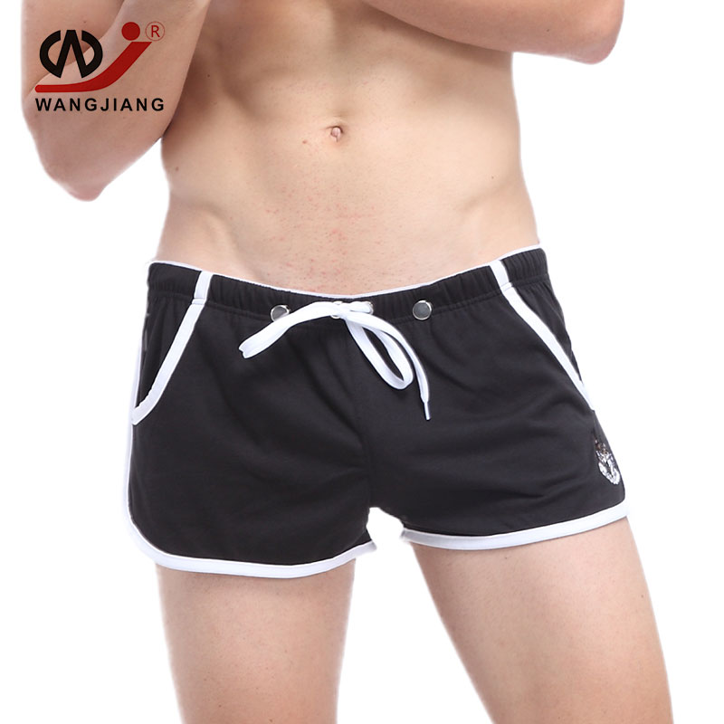 WJ Sexy Runnin Shorts Men Bermuda Mens Shorts Homme Bermuda Short Cotton Short  Men Beach Bermudes Hommes