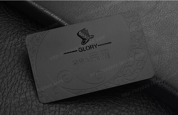 Us 170 0 15 Off Benutzerdefinierte Persönliche Metall Schwarz Visitenkarten Druck 100 Stücke Viel Deluxe Metall Visitenkarte Visitenkarte