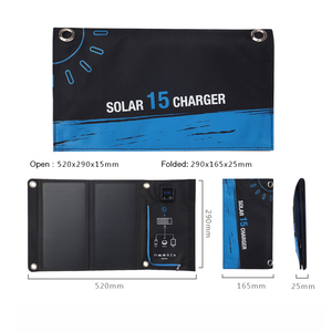 Image 5 - Xionel Portable 15W Folding Waterproof Solar Panel Charger Mobile Power Bank for Phone Battery Dual Display USB Port Outdoor
