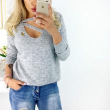 Women V-neck T-shirts Bottoming Tees Female T Shirt Ladies Solid Gray Pink Black T Tops Long Sleeve Fashion Tee T-shirt knit cold shoulder bottoming t shirts in black