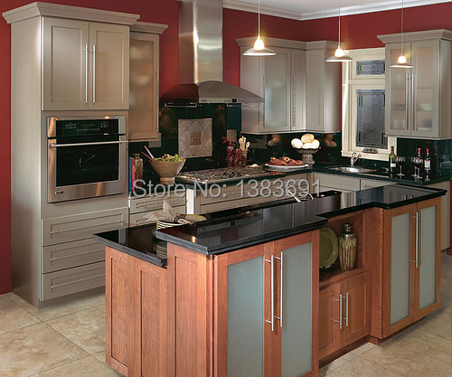 Maple Wood, Birch Wood, Rubber Wood Kitchen Cabinet