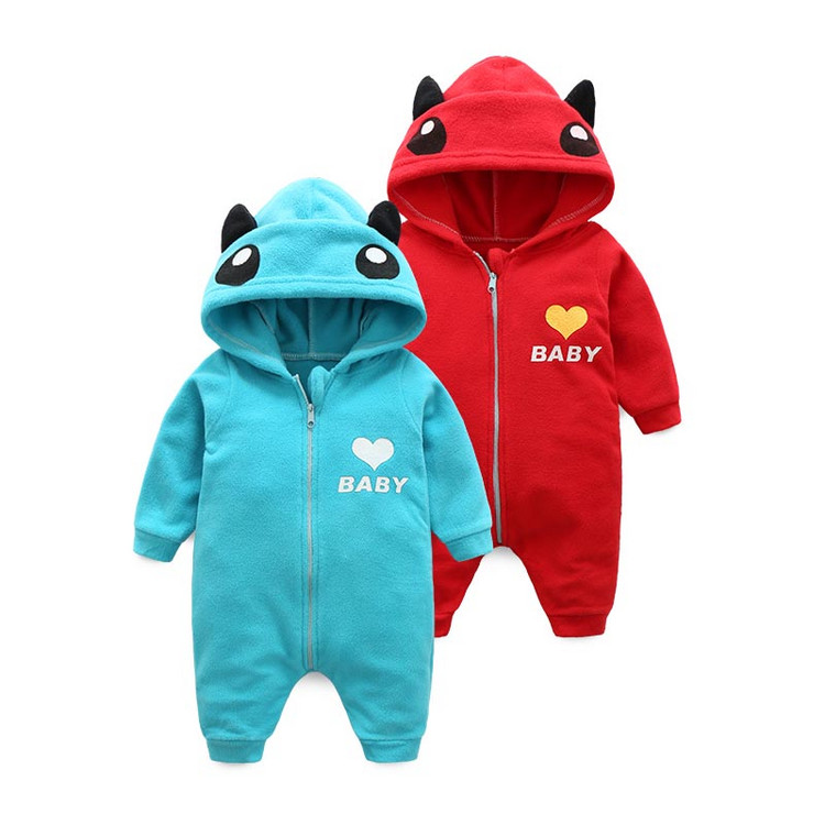 baby rompers  the new polar fleece with cap long sleeved clothes boys/girls animal cute romper winter newborn clothing autumn baby clothes flannel baby boys clothes newborn fleece animal girls jumpsuit hooded toddler cute bear romper baby costumes