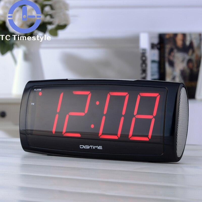 Moderne LED Numérique D'alarme Horloge Reveil Montre Électronique Horloge de Table Night light Chambre Smart Décoration Bureau enfants réveils