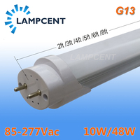 50/пакет светодио дный Light Tube 2ft 3ft 4ft 5ft 6ft 8ft модернизация люминесцентных Light 0,6 м 0,9 м 1,2 м 1,5 м 1,8 м 2,4 м T8 G13 бар лампы