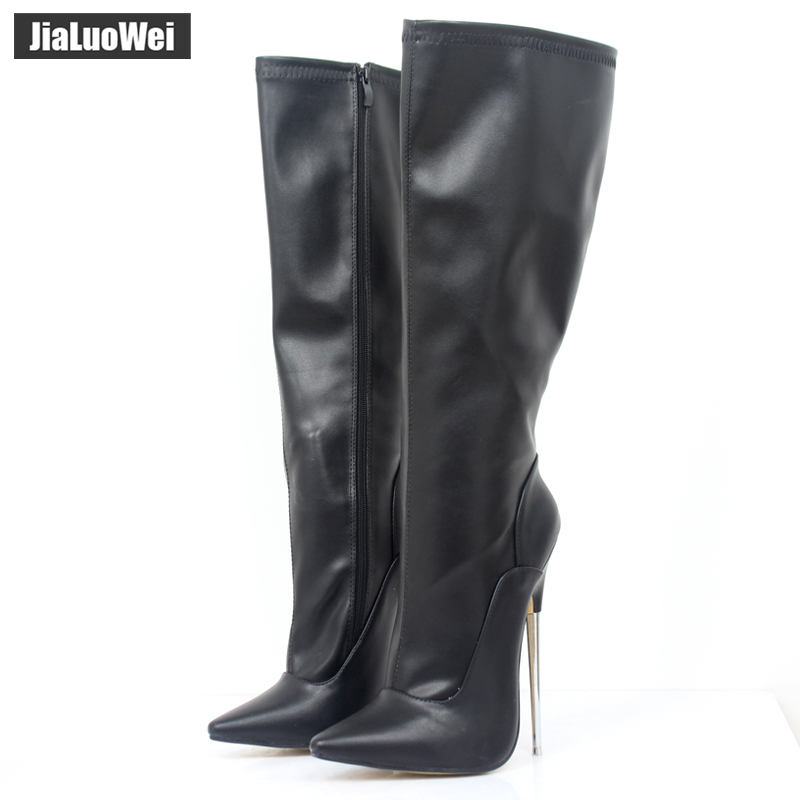 Fashion Europe America Style Knee-High made PU Patent Leather Extreme Thick High Heel Boot Women Knee High Zip Sexy shoes scoyco motorcycle riding knee protector extreme sports knee pads bycle cycling bike racing tactal skate protective ear