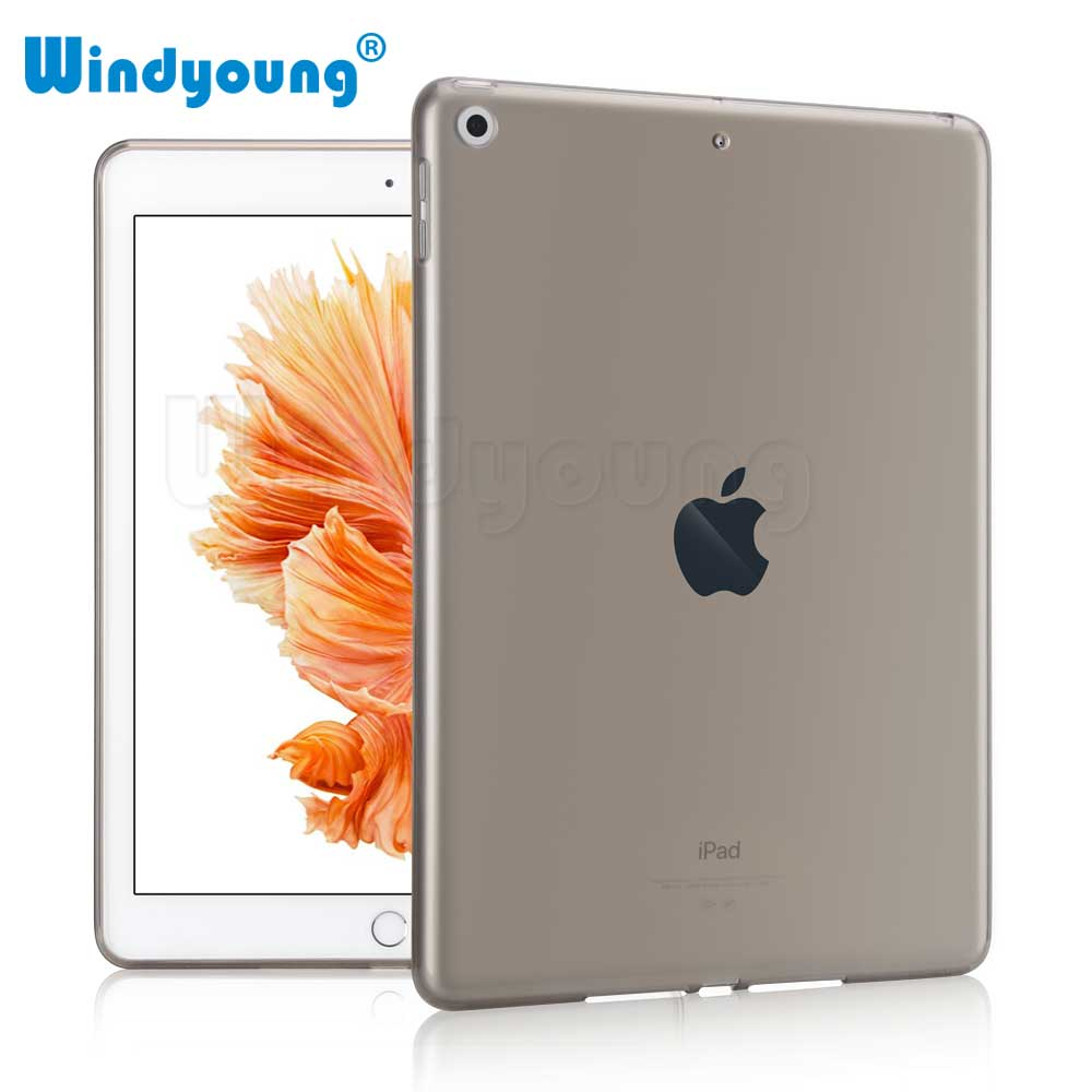 For iPad 9.2018 Case Transparent Shockproof Shell Soft Clear TPU Slim Back Case Cover Protector for iPad 9.7 2017 image