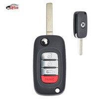KEYECU OEM Flip Remote Car Key Fob 433MHz 4A Chip for Mercedes Benz Smart Fortwo 453 Forfour 2015 2017