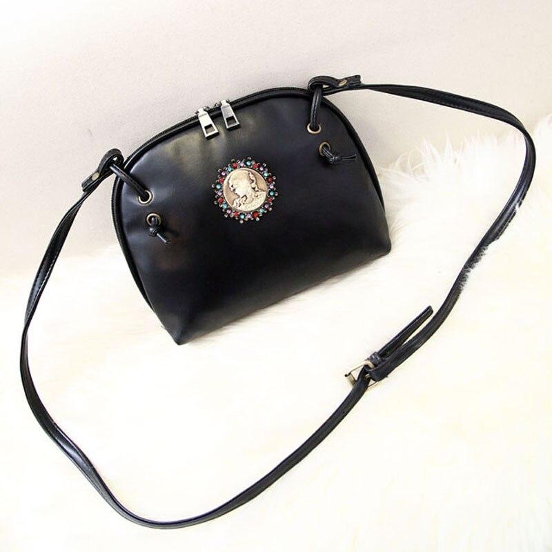 New Design Women Leather Handbags Luxury Women Head Pattern Messenger Shoulder Bag Women s vintage Handbags