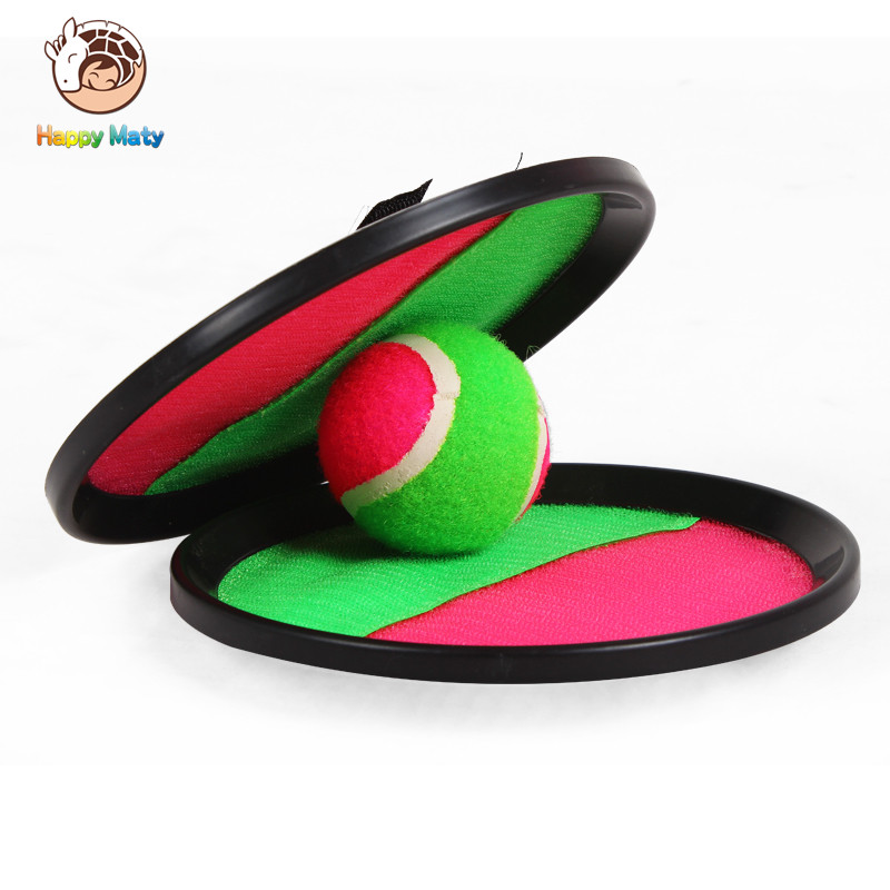 Outdoor Sports Toy Ball ABS dual-use sucker ball to play the beach ball Dazzling Toys Catch Ball Game Set Toss and Catch Sports
