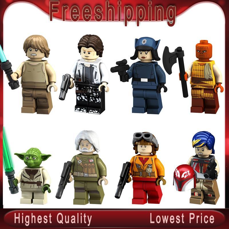 Blocks Toys & Hobbies 50pcs Star Wars Han Solo Luke Skywalker Rebel Pilots Sabine Wren Yoda Special Offer Clone Figure Building Block For Children Toy