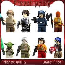 Single Sale Space Wars Han Solo Luke Skywalker Yoda Rebel Pilots Sabine Wren Building Blocks Collection Toys for children PG8115(China)