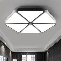 Современные треугольник светодиодный панели поверхностного монтажа Потолочный светильник белый/черный освещения ванной комнаты AC110 240V
