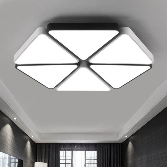 Modern triangle led panel surface mounted ceiling lamp whiteblack modern triangle led panel surface mounted ceiling lamp whiteblack bathroom lighting ac110 240v aloadofball Images