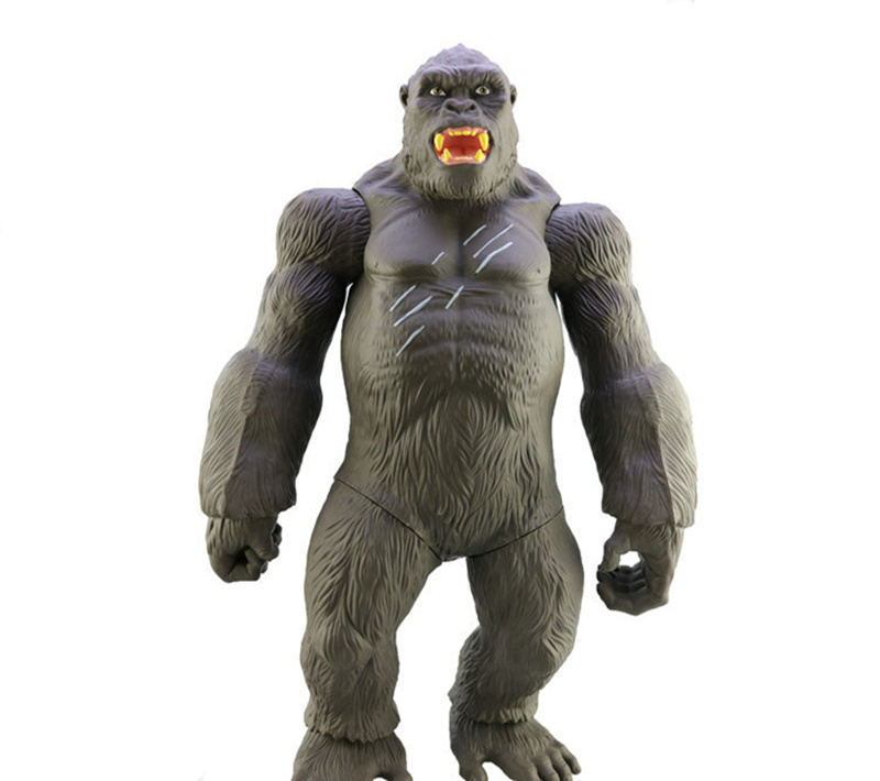 [Funny] Large Size 45CM Movie King Kong Skull Island Action Figure Toy Gorilla Collection Model Desk Decorations Kids Gift Toys