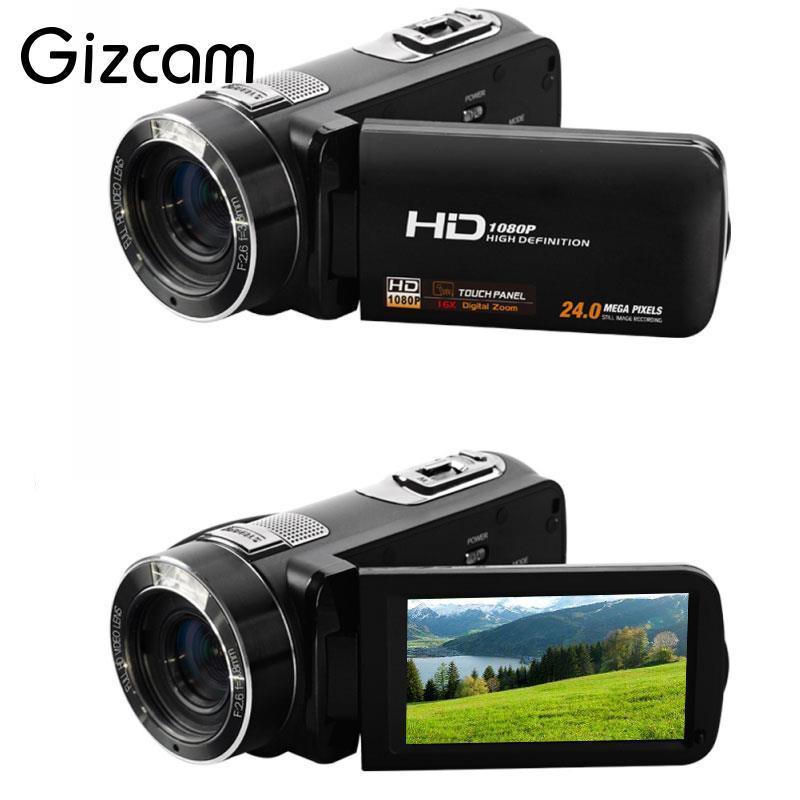 Gizcam 3.0 24MP HD 1080P Digital Camera Recorder 16X Zoom Camcorder Anti Shake DV DVR Camcorder Cam Gift